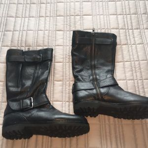 Black Kenneth Cole Leather Boots